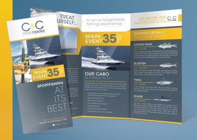 C&C Sport Fishing Brochure Design
